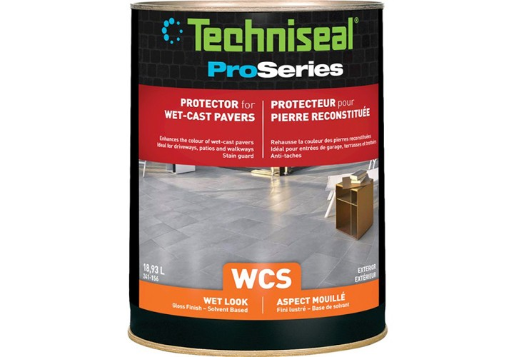Protecteur wet-cast pavers